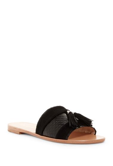 Incaltaminte Femei Pour La Victoire Lake Genuine Watersnake Slide Sandal BLACK