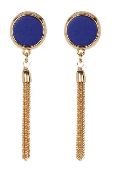 Bijuterii Femei 14th Union Stone Circle Tassel Drop Earrings LAPIS-GOLD