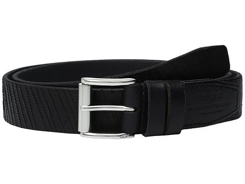 Accesorii Barbati John Varvatos Laser Cut Textured Belt with Roller Buckle Black