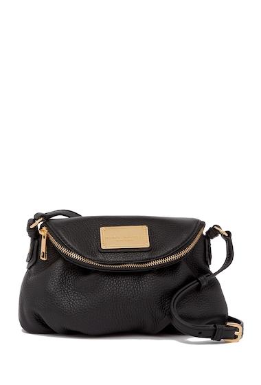 Genti Femei Marc by Marc Jacobs Classic Mini Leather Messenger Bag BLACK