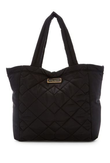 Genti Femei Marc Jacobs Quilted Nylon Tote BLACK