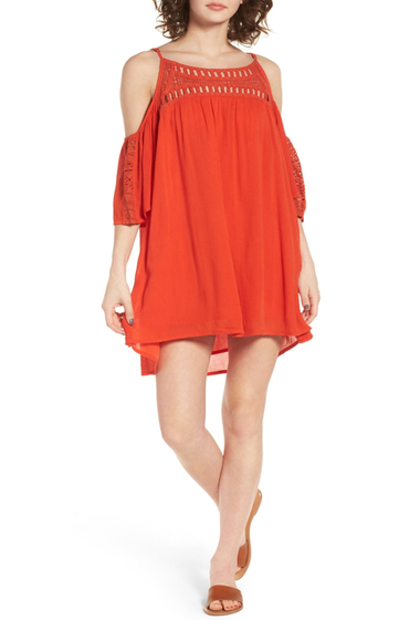 Imbracaminte Femei Rip Curl Amorosa Cold Shoulder Dress RED