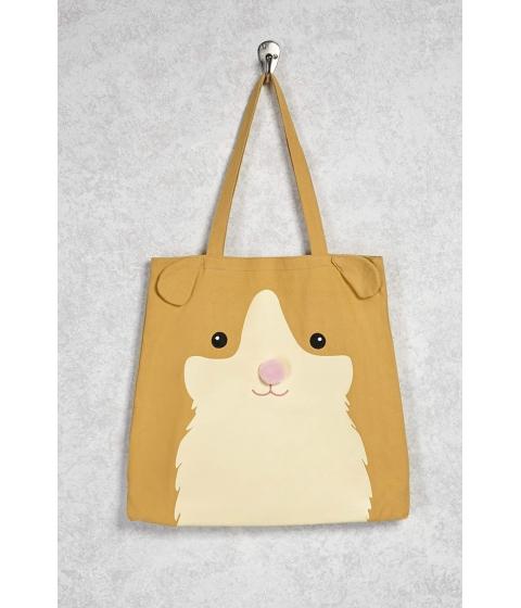 Genti Femei Forever21 Hamster Graphic Tote Brownmulti
