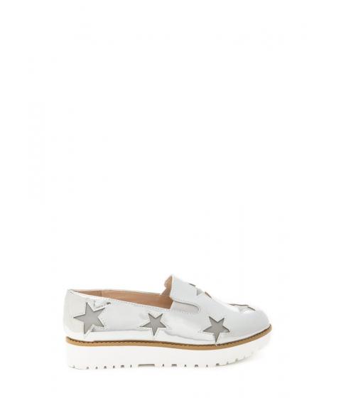Incaltaminte Femei CheapChic Stargazing Metallic Slip-on Sneakers Silver