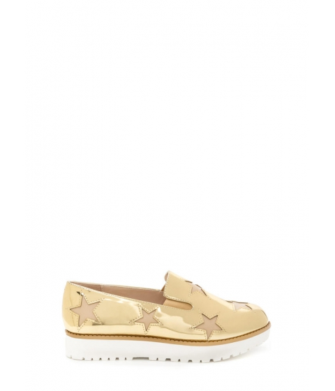 Incaltaminte Femei CheapChic Stargazing Metallic Slip-on Sneakers Gold
