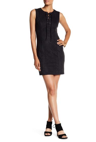 Imbracaminte Femei 1State Sleeveless Lace-Up Bodycon Dress RICH BLACK