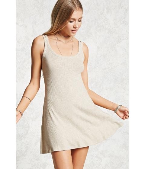 Imbracaminte Femei Forever21 Ribbed Swing Dress Tan