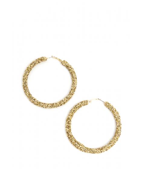 Accesorii Femei CheapChic Gem Mine Glitzy Textured Hoop Earrings Gold