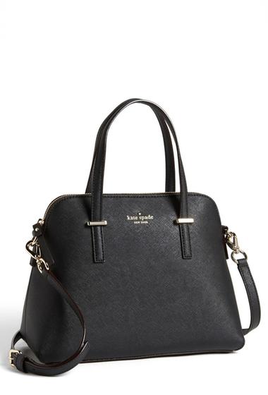 Genti Femei Kate Spade New York Cedar Street Maise Leather Satchel BLACK
