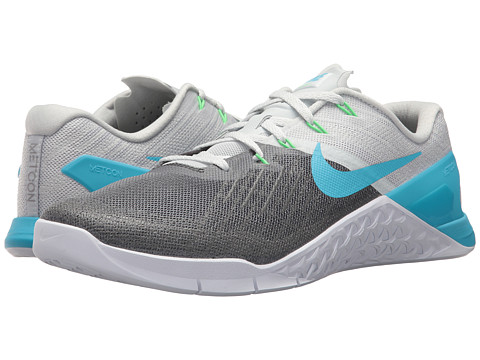 Incaltaminte Barbati Nike Metcon 3 Pure PlatinumBlue FuryWhiteRage Green