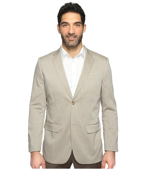 Imbracaminte Barbati Perry Ellis Regular Fit Stretch Heather Twill Suit Jacket Natural Linen