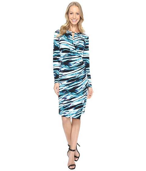 Imbracaminte Femei Calvin Klein Printed Wrap Dress w Hardware CypressBlack