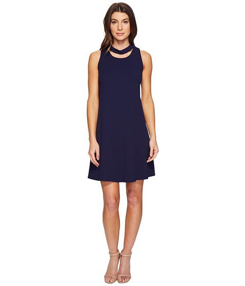 Imbracaminte Femei Christin Michaels Harlyn Sleeveless Dress with Neckline Detail Navy