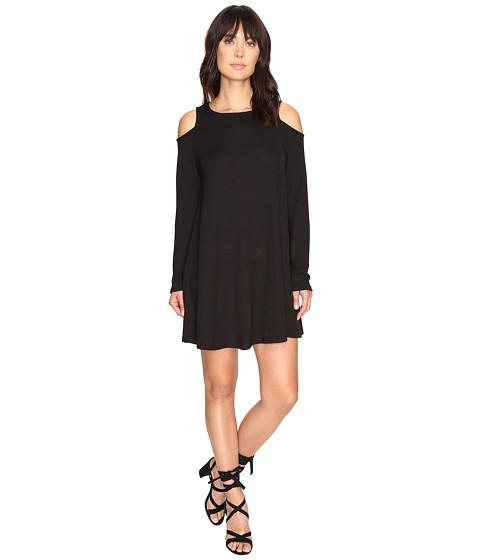 Imbracaminte Femei Culture Phit Vera Long Sleeve Cold Shoulder Dress Black