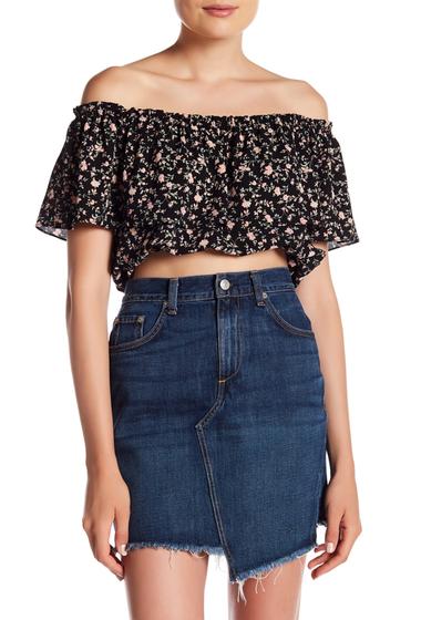 Imbracaminte Femei Abound Off Shoulder Floral Mini Blouse BLACK MINI FLR