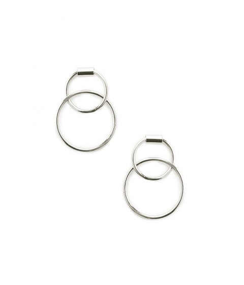Bijuterii Femei Forever21 Dual Hoop Doorknocker Earrings Silver