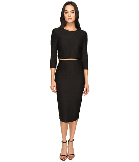 Imbracaminte Femei Donna Morgan Knit Jacquard Two-Piece Black