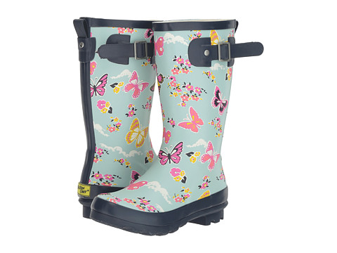 Incaltaminte Fete Western Chief Kids Classic Tall Butterfly Floral Rain Boot (Little KidBig Kid) Sky Blue