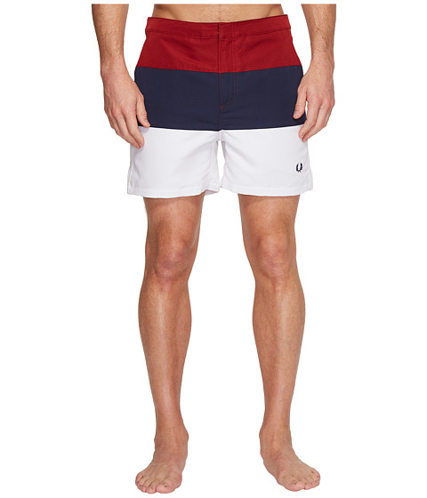 Imbracaminte Barbati Fred Perry Striped Panel Swimshorts Rich Red