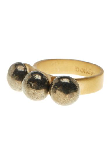 Bijuterii Botkier Triple Stone Ring- Size 7 GOLDT