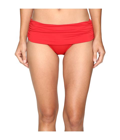 Imbracaminte Femei LAUREN Ralph Lauren Beach Club Solids Wide Shirred Banded Hipster Bottom Red