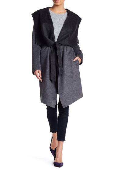 Imbracaminte Femei Soia Kyo Draped Hooded Wool Blend Coat GREY