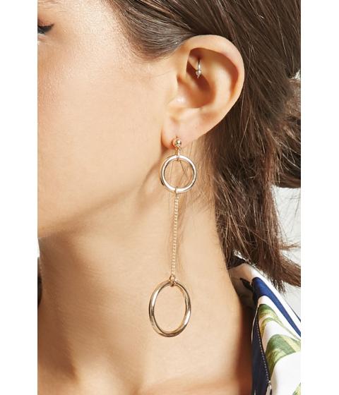 Bijuterii Femei Forever21 Linked Drop Earrings Gold