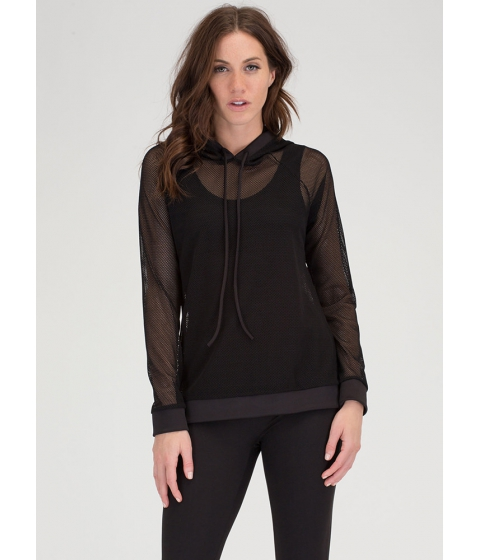Imbracaminte Femei CheapChic Just For Sport Netted Mesh Hoodie Black