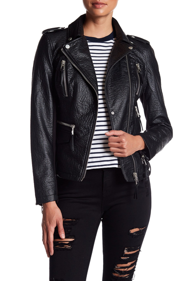 Imbracaminte Femei Blanc Noir Faux Leather Moto Jacket BLACK