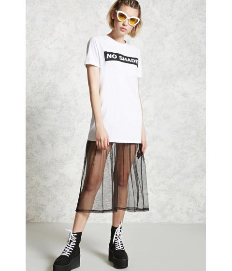 Imbracaminte Femei Forever21 No Shade Mesh T-Shirt Dress Whiteblack