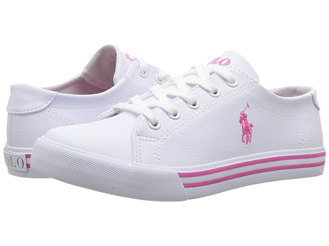 Incaltaminte Fete Polo Ralph Lauren Slater (Little Kid) White TumbledPink PP