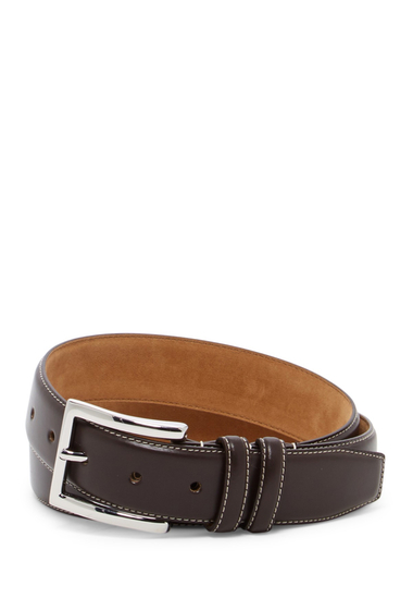 Accesorii Barbati Cole Haan Feathered Edge Leather Belt BROWN