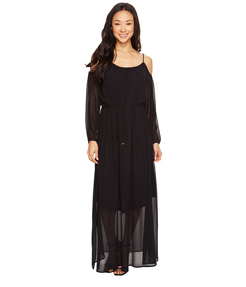 Imbracaminte Femei Calvin Klein Off Shoulder Maxi Dress Black