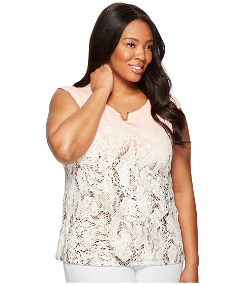 Imbracaminte Femei Calvin Klein Plus Size Printed Extended Shoulder with Hardware Nectar Multi