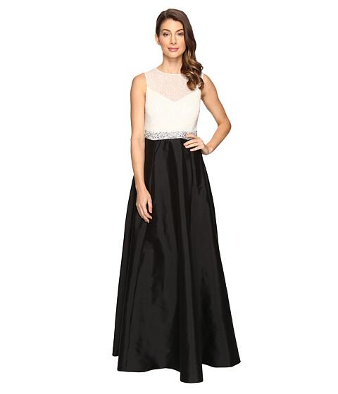 Imbracaminte Femei Adrianna Papell Bead Boidice Taffeta long Gown IvoryBlack