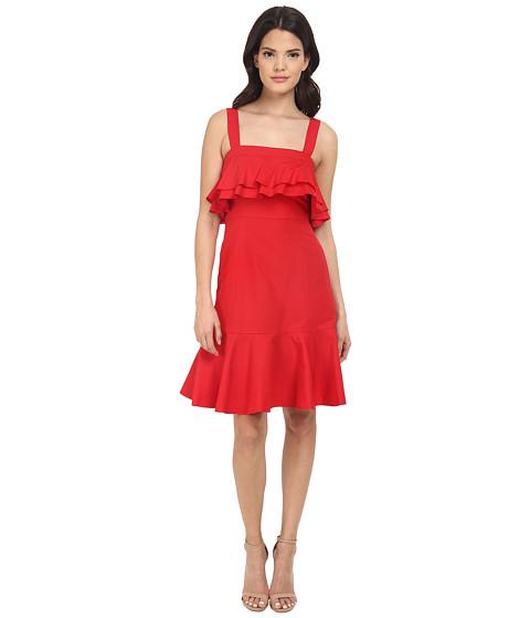 Imbracaminte Femei Jill Jill Stuart Spagetti Strapped Ruffled Front SilkCotton Faille Short Dress Poppy
