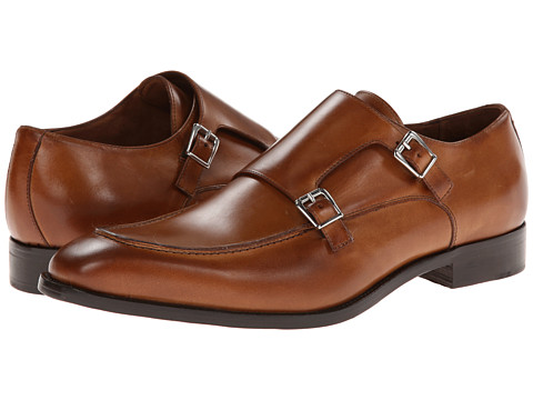 Incaltaminte Barbati Massimo Matteo Dbl Monk Mocc Toe Tan w Burnished Toe