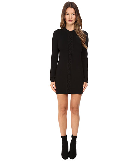 Imbracaminte Femei NEIL BARRETT Laced Slim Knit Dress Black