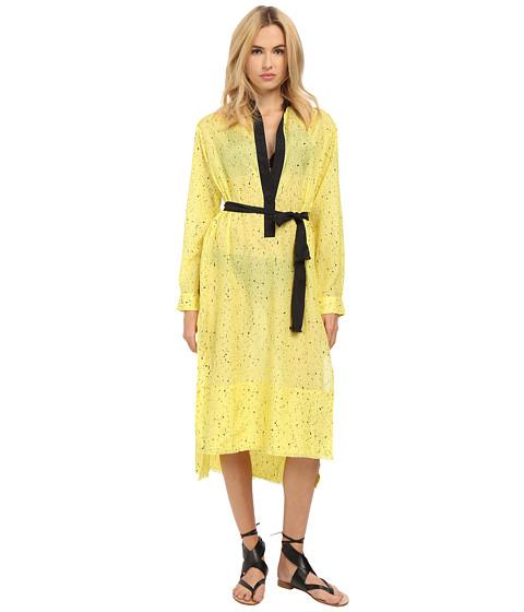 Imbracaminte Femei Proenza Schouler Splatter Print Fringe Shirtdress Cover-Up Lemon