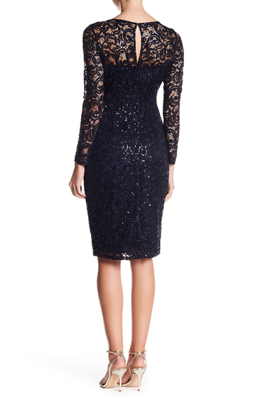 Imbracaminte Femei Marina Long Sleeve Lace Sequin Dress NVY