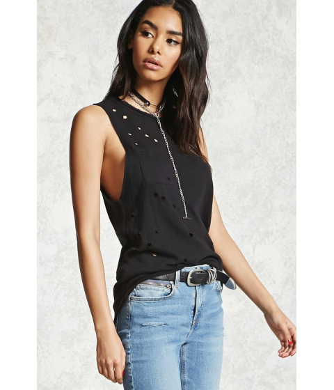 Imbracaminte Femei Forever21 Distressed Pocket Tank Top Black