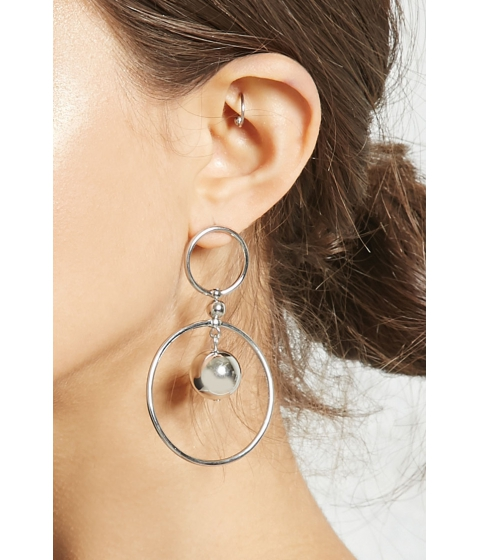 Bijuterii Femei Forever21 Dome Drop Earrings Silver