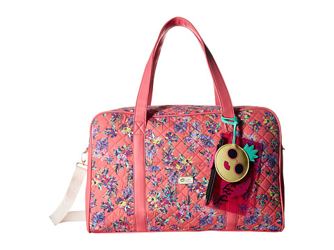 Genti Femei Luv Betsey by Betsey Johnson Cruisn Star Print Weekender With A Pass Through On the Back Pink Flower