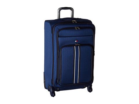 Genti Femei Tommy Hilfiger Classic Signature Jacquard 25quot Upright Suitcase Blue