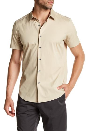 Imbracaminte Barbati Theory Sylvian S Slim Fit Short Sleeve Shirt SAND