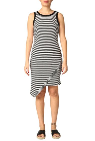Imbracaminte Femei Michael Stars Asymmetrical Stripe Tank Dress WHITE