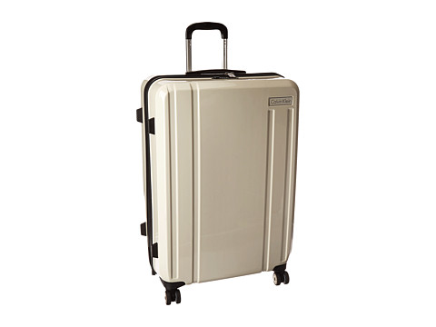 Genti Femei Calvin Klein Beacon 28quot Upright Suitcase White