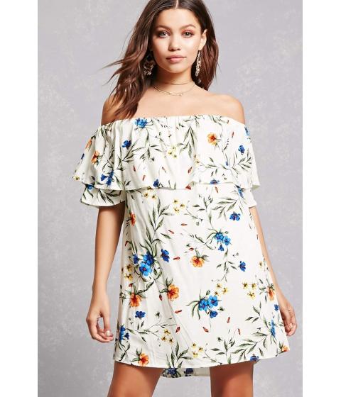 Imbracaminte Femei Forever21 Tassels N Lace Flounce Dress Cream