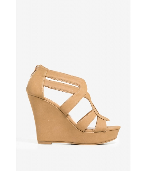 Incaltaminte Femei CheapChic Is This Love Wedge Cognac