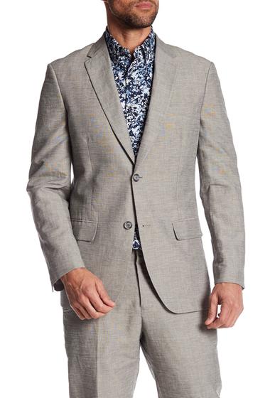 Imbracaminte Barbati Perry Ellis Notch Collar Slim Fit Blazer 073 ALLOY